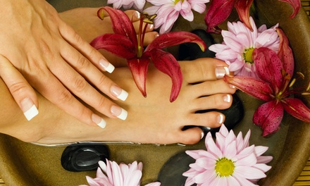 Tropical Pedicure with Warm Oil Hydration and ME Bath Cream with Optional Manicure at ME SPA (Up to 53% Off)