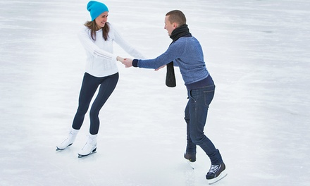 Ice-Skating Outing with Skate Rental, Drinks, and Hot Dogs for 2, 4, or 6 at Eagles Ice-A-Rena (Up to 51% Off)