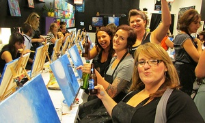 Up to 36% Off 2.5-Hour Painting Party at Design and Dine at Design and Dine, plus 6.0% Cash Back from Ebates.