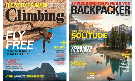 1-Year Subscription to Backpacker or Climbing from $6–$9