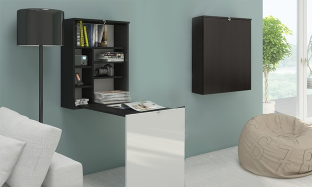 Scrivania di design a parete groupon goods for Scrivania richiudibile