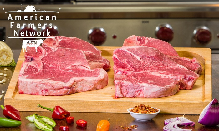 American Farmers Network: Grass-Fed Organic Steak Samplers with Free Shipping from American Farmers Network ( 64% Off )