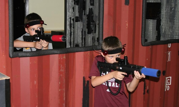 Aggieland War Games - Northeast Brazos: Hour of Tactical Laser Tag for Four or Six at Aggieland War Games (Up to 40% Off). Four Options Available.