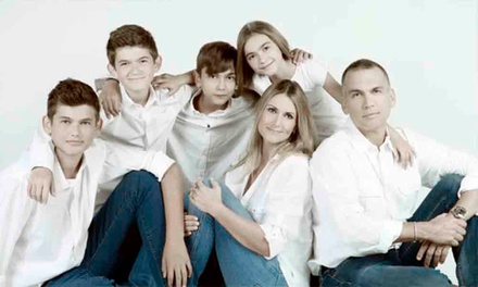 Family Photoshoot with Canvas and Makeover for Up to Eight at Revolve Studios