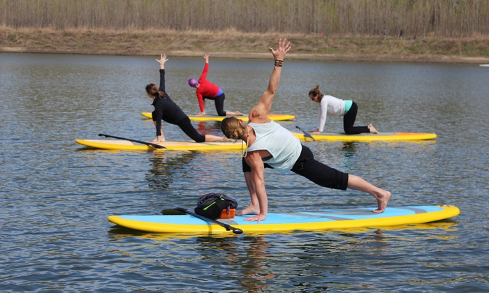 SUPStLouis - Chesterfield: One SUP Yoga Lesson for One or Two at SUPStLouis (46% Off)