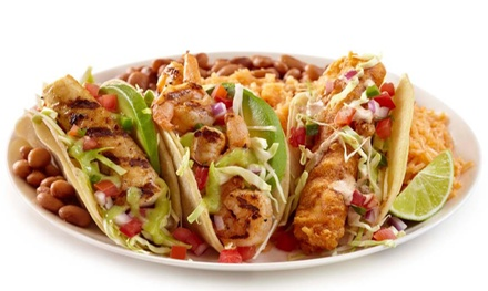 Mexican Meal for 2 or 4, or Fajita Fiesta Platter for 10 at Baja Fresh Mexican Grill - Folsom (Up to 40% Off)