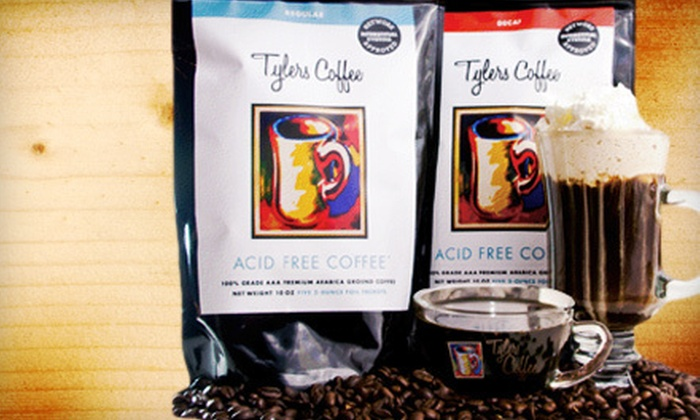 Tylers Coffee: $29 for a Two-Week Supply of Ground, Acid-Free Coffee with Free Shipping from Tylers Coffee ($60 Value)