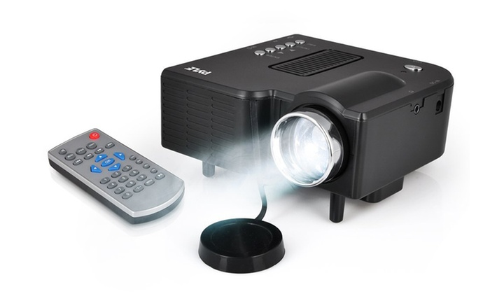 Pyle Mini Compact Gaming Projector with 1080p Support and USB/SD Card Reader
