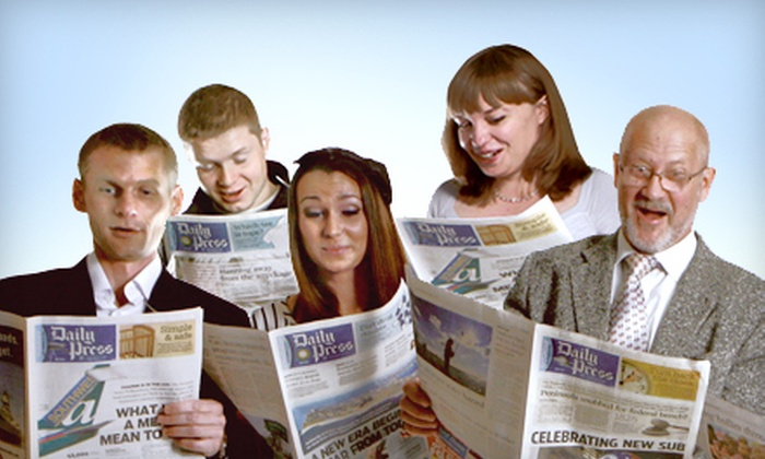 "Daily Press - Newport News: Half or Full Year of Sunday Edition or Half Year of Wednesday and Weekend Editions of ""Daily Press"" (Up to 82% Off)"