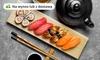 Zestawy sushi z herbatą jaśminową