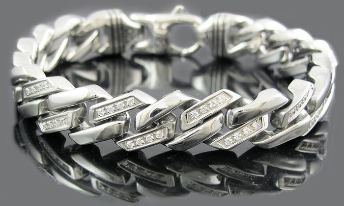 Stainless Steel Link Bracelets Groupon Goods