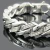 Blackjack Men's Stainless Steel and Cubic Zirconia Link Bracelets