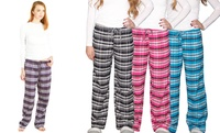 GROUPON: Women's Flannel Lounge Pants (3-Pack) Women's Flannel Lounge Pants (3-Pack)