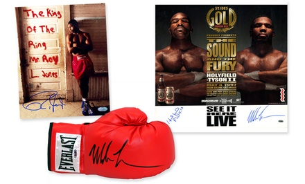Autographed Boxing Great Photos, Posters, and Gloves from $64.99-$449.99