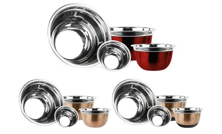 4-Piece Stainless Steel Mixing Bowl Sets from $19.99–$21.99