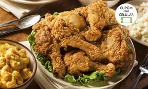 Frango Texano – Taguatinga: Frango Texano – Taguatinga, Vicente Pires e Santa Maria Shopping: balde de frango com batata cheddar e bacon e molho