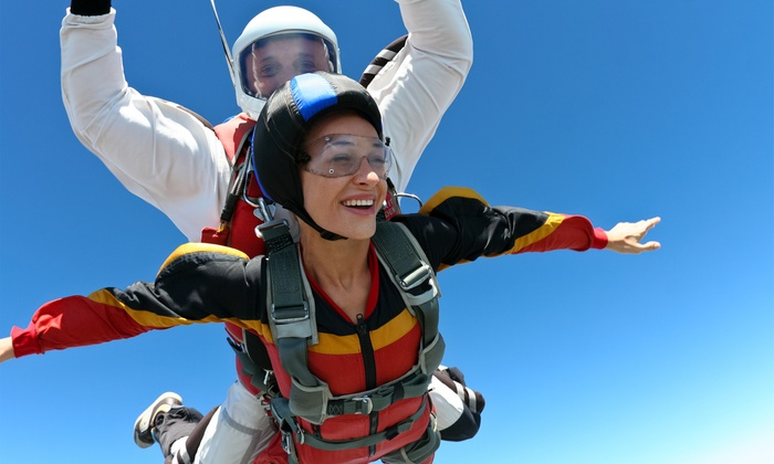 Skydive Baltimore - Aberdeen : One or Two Tandem Skydives, Each with T-Shirt from Skydive Baltimore (Up to 47% Off)