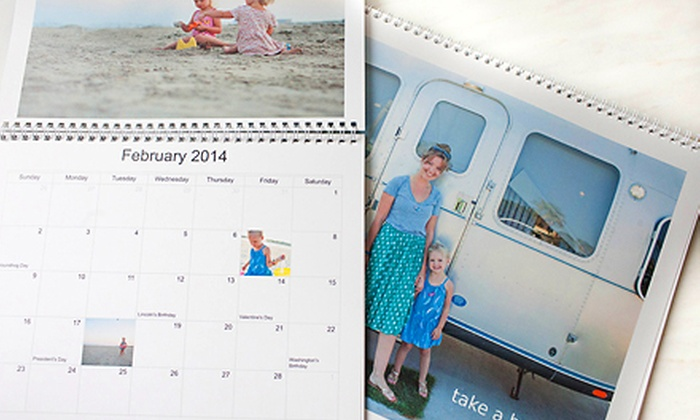 "Picaboo: One or Two 9""x11"" Custom Photo Calendars from Picaboo (Up to 67% Off)"