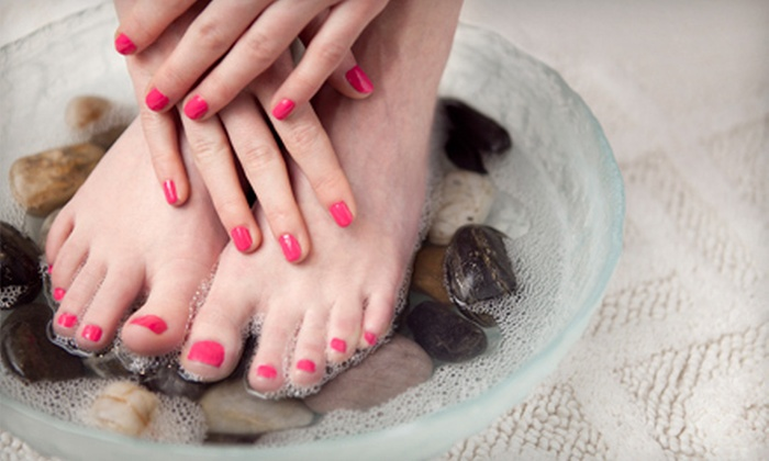 J.Kelley Salon Inc. - Freeport: One or Three Shellac or Spa Manicures with Pedicures at J. Kelley Salon Inc. (Up to 59% Off)