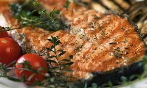 Nuevo Lanjarón: Menú carne o pescado para 2 o 4 con entrante, principal, bebida y café o té desde 19,95 € en Nuevo Lanjarón