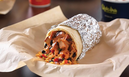 Mexican Meal for Two or Four with Chips and Queso and Drinks or Catering at Qdoba Mexican Grill (Up to 45% Off)