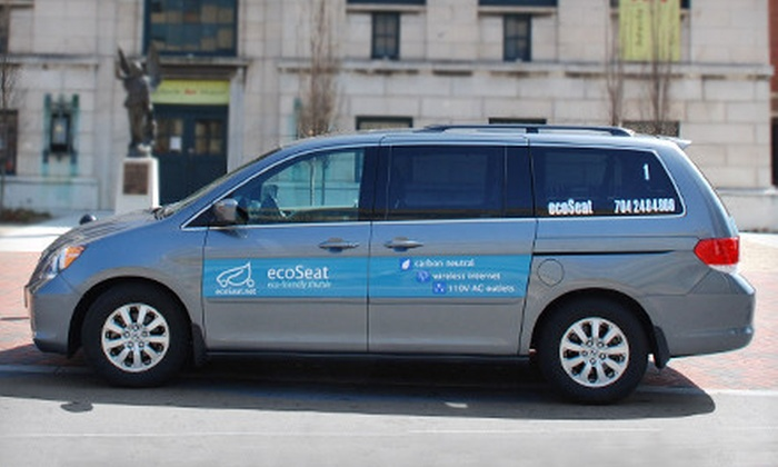 EcoSeat - Charlotte: Airport Shuttle Service for One, Two, or Four Within the 485 Loop from EcoSeat (Up to 60% Off)