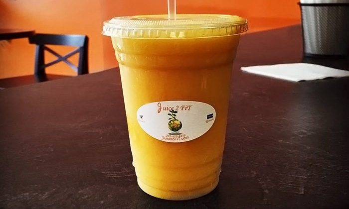 Juice 2 Fit - Constable Hook: $14 for Four Groupons, Each Good for $6 Worth of Juice at Juice 2 Fit ($24 Total Value)