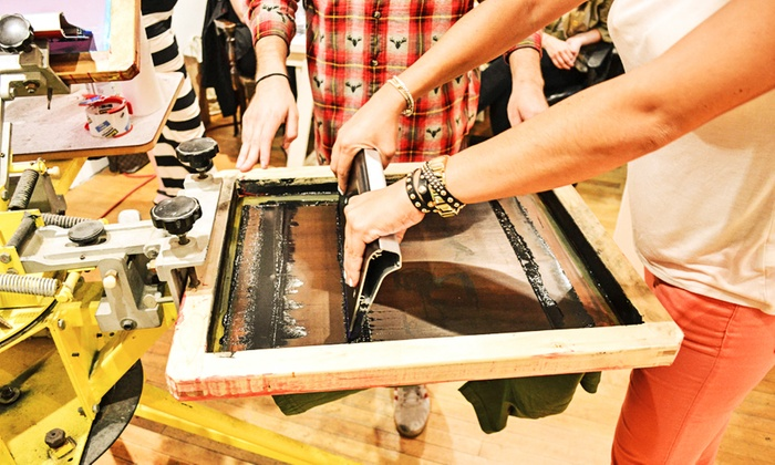 Vividbraille - Bucktown: Three-Hour BYOB Screen-Printing Class with T-Shirts for One, Two, or Four (Up to 45% Off)