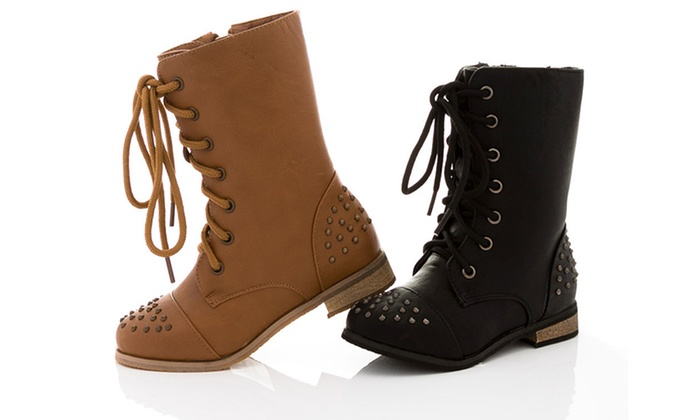 Girls' and Toddler Combat Boots | Groupon Goods