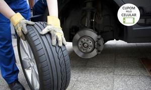 Roda Leve Pneus: Roda Leve Pneus – Ceilândia Norte: alinhamento, balanceamento e rodízio de pneus (opção com cambagem, óleo e filtro)