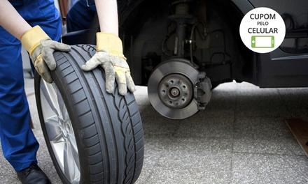 Roda Leve Pneus – Ceilândia Norte: alinhamento, balanceamento e rodízio de pneus (opção com cambagem, óleo e filtro)