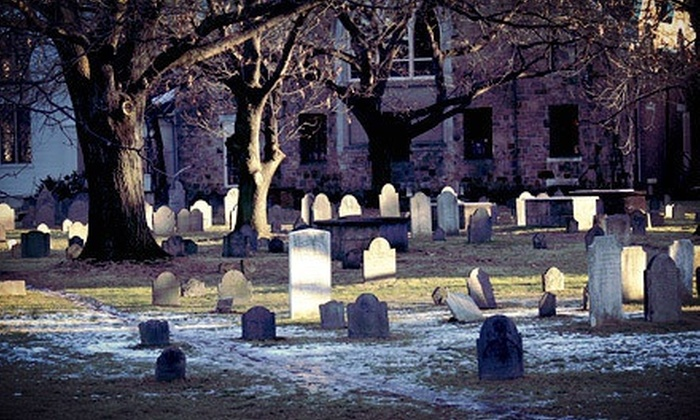 Boston Haunts Holiday Tour - Irish Famine Memorial: Spirited Charles Dickens Holiday Ghost Tour for Two or Four from Cambridge Haunts (Up to 58% Off)