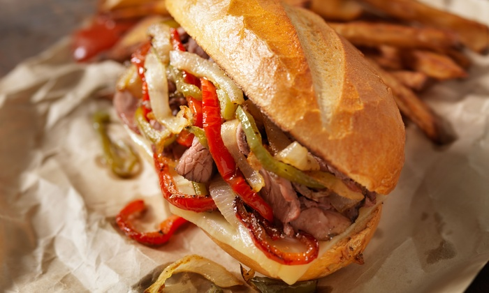 O'Philly Cheesesteak Heaven - Denton: One or Two Groupons, Each Good for $15 Worth of Cheesesteaks for Two at O'Philly Cheesesteak Heaven (47% Off)