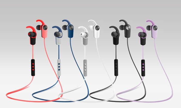 Photive Sweat-Proof Bluetooth 4.0 Wireless Stereo Earbuds with Built-In Microphone
