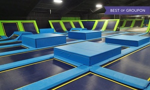 Fly High Trampoline Park: Jump Pass for 1 or 4 or Birthday Party Package at Fly High Trampoline Park (Up to 50% Off). 6 Options Available.