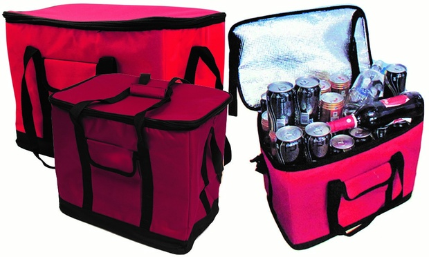 Extra Large 30 Litre 60 Can Insulated Cooler Cool Bag Red