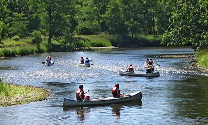 Larsen's Landing Outfitters - Rockford: $35 for a Kishwaukee River Canoe Trip for Two from Larsen's Landing Outfitters ($70 Value)