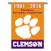 NCAA Clemson 2016 National Champions Banner Flag