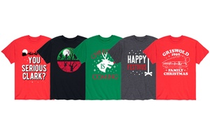 Men's Pop Culture Christmas Tee. Extended Sizes Available.