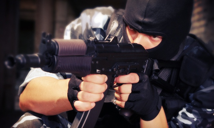 NVP Paintball - Indoor: All-Day Paintball Package for Two or Four with Gear, Air, and 100 Paintballs Per Person at NVP Paintball (Half Off)