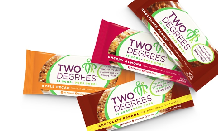 Two Degrees Snack Bars: Two Degrees Snack Bars (9 Bar-Pack). Multiple Flavors Available. Free Shipping.