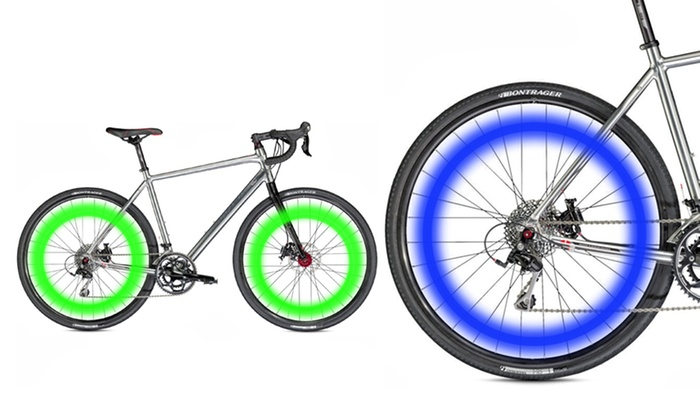 LED Bicycle Wheel Lights: LED Bicycle Wheel Lights. Multiple Colors Available.