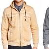 XRay Men's Burnout Fleece Zip-Up Sweater