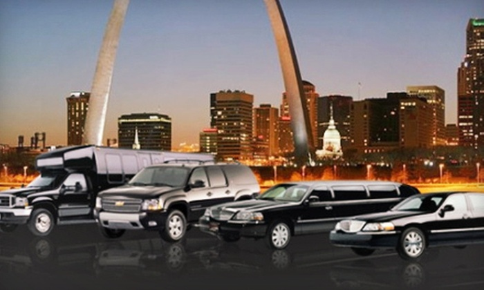 St. Louis Limousine - Downtown St. Louis: Limousine or Party-Bus Rental for Up to 14 from St. Louis Limousine (Up to 61% Off). Four Options Available.