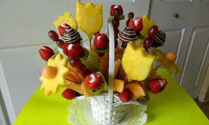 Delightful Fruit Flowers - IN-STORE PICKUP: One Fruit Basket or One Dozen Strawberry Chocolates at Delightful Fruit Flowers (Up to 34% Off)