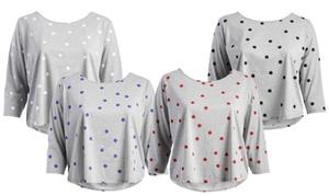 Women's Plus Size Polka Dots T-Shirt
