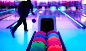Glo-Bowl Fun Center: Two Hours of Bowling with Pizza for Four or Eight at Glo-Bowl Fun Center (Up to 69% Off)