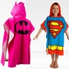 Children's Cartoon Hooded Bath Ponchos