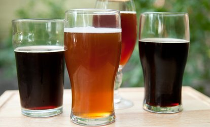 image for Brewery Tasting Flight for Two or Four with Souvenir Pint Glass at Pulpit Rock Brewing Company (Up to 60% Off)