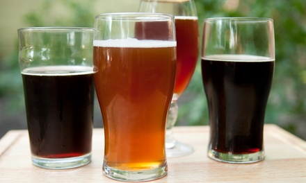 $25 for Beer Paddles, Appetizers, and Take-Home Beer Glasses for Two at Biergarten (Up to $51.90 Value)